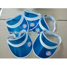 Nestle uv / pvc Sonnenblende Hüte mit Druck Logo - übergeben die Uv Transmission und 6p Test