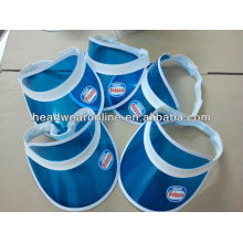 Nestle uv/pvc sun visor hats with printing logo--pass the uv transmittance and 6p test