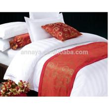 Rayado uso del hotel cubre la cama edredón de ropa de cama conjunto de 1 cm 2 cm de rayas
