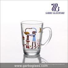 Taza promocional del vidrio del muñeco de nieve