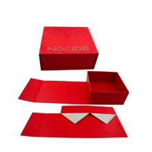 Boîte de maquillage pliable en papier pliable
