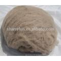 Approvisionnement de stock d'usine épilée Fibre de cachemire de couleur brune mongole intérieure