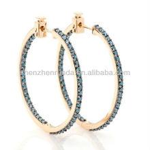 2013 moda em ear earrings hoop brincos para mulheres