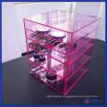 China Manfuacturer Custom Pink 5 Tier Acryl Make-up-Organizer