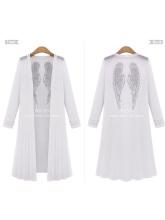 Plus Size Summer Women Fashion Printed  Long Sleeve Cardigan Dust Coat