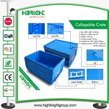 Caja de contenedores apilables de almacenamiento industrial