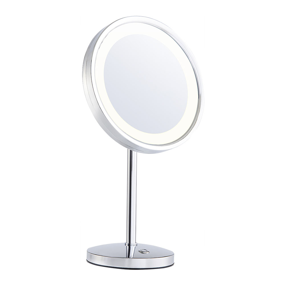 Magnifying+round+vanity+mirror+with+light