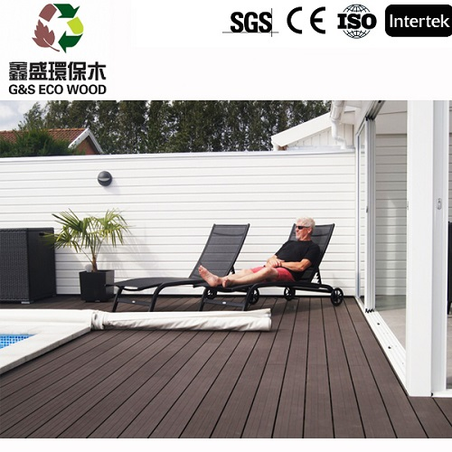 Outside Anti-uv Swimming Pool Wpc Decking