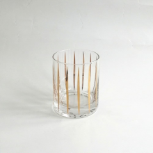 Glass Tumbler With Gold Decal