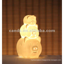 Charmmy Pig Ceramic Decoration Table Lamp (animal lamp)