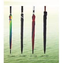 Автоматический открытый красочный печати прямой зонтик (JY-186)