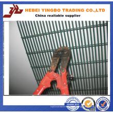 Difícil de cortar vedação em malha de arame de alta segurança revestida de PVC