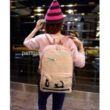 Hot Sale Cheap Lovely Cat Design Cotton Bag