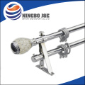 New design Resin Finial Metal Curtain Tube Set