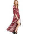 2016 Summer Fashion Chiffon Flower Printing Women Dress