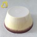 impresión de la etiqueta cuencos de la melamina de la ensalada redonda de 6 pulgadas