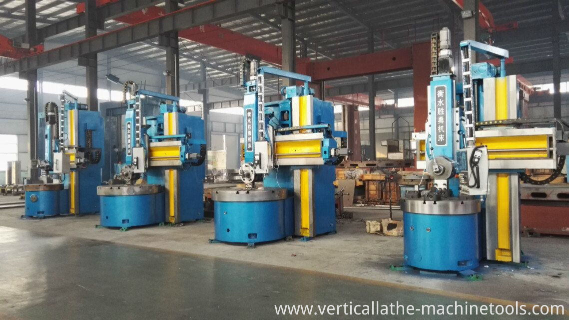 Manual vertical turning lathe