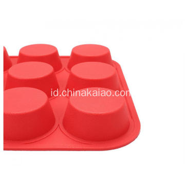 FDA Standard 9 Cavities Silicone Cake Muffin Baking Tray