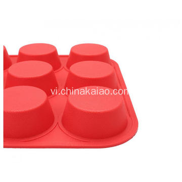 FDA Standard 9 Cavities Bánh bích quy silicone Muffin Baking Tray