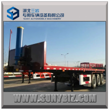40 Ft 3axle Container Flatbed Dump Semi Trailer