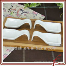 unique snack serving dish with bamboo tray