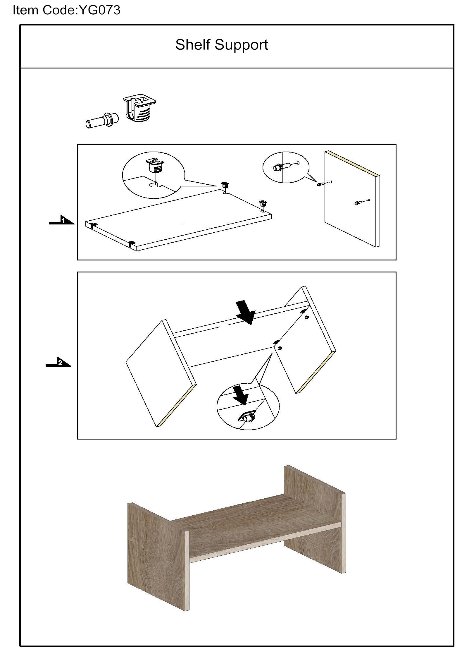 YG073 AI plastic shelf support