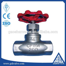 stainless steel cf8m screwed end globe valve