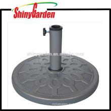 base de paraguas redonda de resina de 8 kg de alta calidad