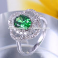 neues Design Champagner Marquise Form CZ 925 Sterling Silber Ring