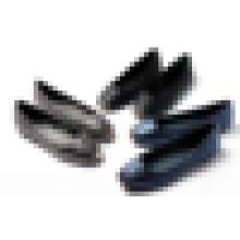 Gute Qualität Dame Freizeit Schuh Mode quadratischen Metall Zehe gepolstert PU Leder Frauen Schuh