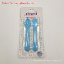 2PC Baby Feeding Tool Fork Spoon Baby Products