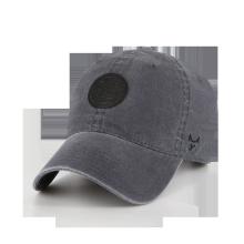 Chapéu lavado em tela escovada revestida tingida spandex