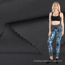 polyester stretch double faced jersey fabric for fitness tops and pants