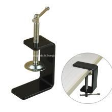 Pince de bureau C de meubles en métal de revêtement de poudre noire