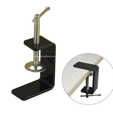 Abrazadera de escritorio C de muebles de metal con recubrimiento de polvo negro