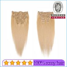 Human Hair Virgin Hair Brazilian Clip in Extensions 100% Natural Hair 7PCS/Set