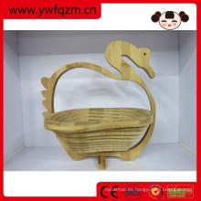 Plegable cesta de fruta de bambú al por mayor