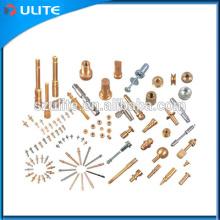Fábrica de CNC de mecanizado de fresado Servicio de torneado de acero de bronce de bronce de aluminio Material