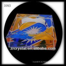 Rectángulo cenicero de cristal