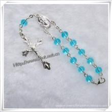 One Decade Religious Crystal Rosary Bracelet (IO-CE027)