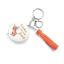 Рулетка из искусственной кожи с брелком для ключей