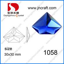 Irregular especial corte suelto rojo vidrio decorativo piedras de gemas