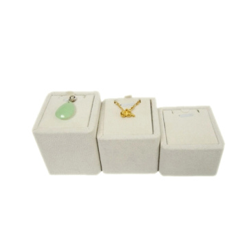 Beige Suede Jewelry Pendant Display Set Wholesale (RST-3BPN3)