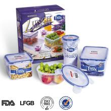 Защитных калиток вакуумный герметичный контейнер для хранения продуктов набор 4шт