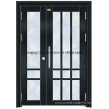 Isreal Color Project Steel Security Entrance Metal Glass Door (W-GD-10)