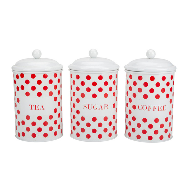 Enamel steel Canister Set
