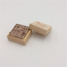 wooden rubber stamp storage