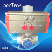Pneumatic Tee Internal Thread Ball Valve