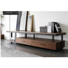 Metal and wooden tv stand