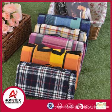 Briefcase style 100% acrylic waterproof outdoor blanket